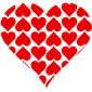 heart of red hearts stickers