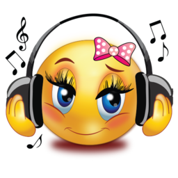 girl listen to music stickers