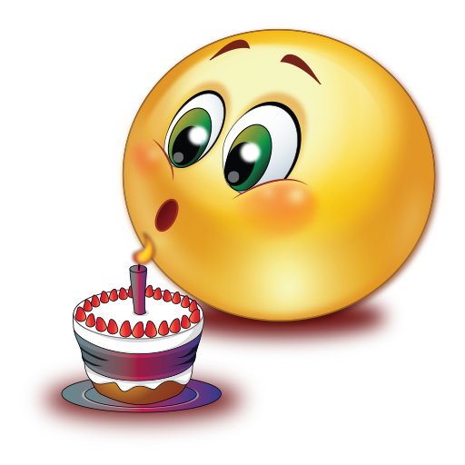 Birthday Cake Blowing Candle Emoji