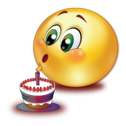 birthday cake blowing candle  stickers