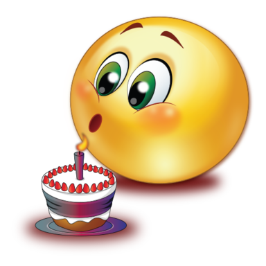 birthday cake blowing candle  sticker