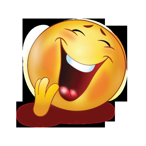 big laugh closed eye emoji