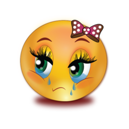 sad crying girl stickers