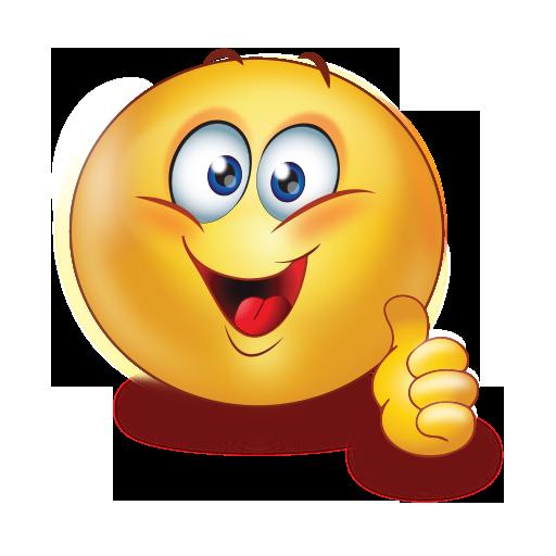 Cheer Big Smile Thumb Up Emoji