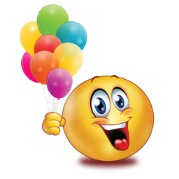 happy with balloons stickers