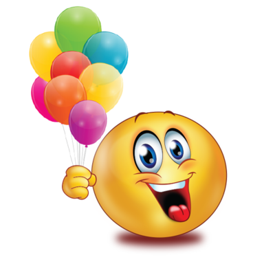 happy with balloons />                                                                                        