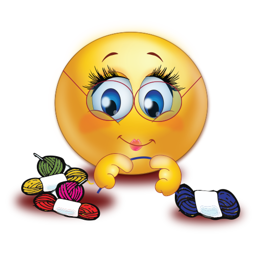 Knitting Emoji Copy : Grandma knitting emoji
