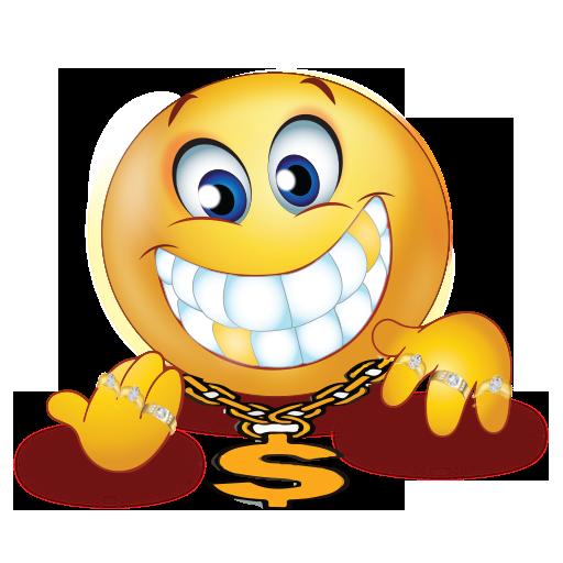 rich man golden teeth emoji