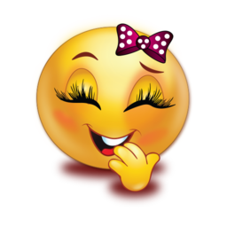 shy smile girl stickers