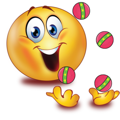 clown with jogging balls />                                                                                        