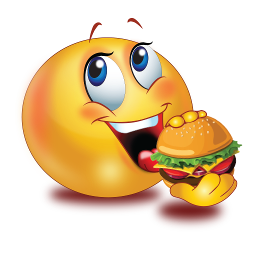 party eating burger emoji hunger clipart hungry clipart coloring pages
