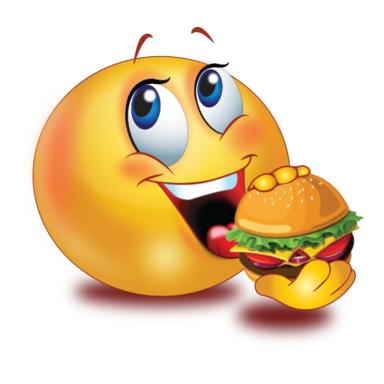 party eating burger />                                                                                        
