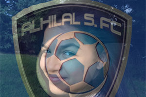 Alhilal Saudi Flag Overlay photo effect