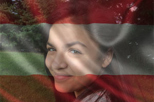 Austria Flag Overlay photo effect