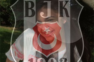 Besiktas Flag Overlay photo effect