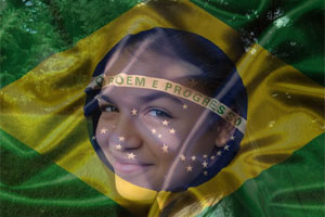 Brazil Flag Overlay photo effect