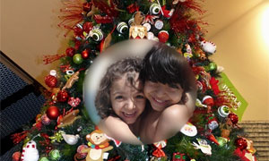 Christmas Tree photo effect