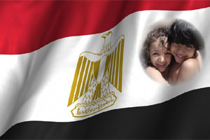 Egypt_flag photo effect