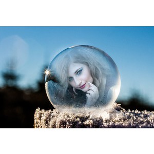 Frozen Winter Bubble photo effect