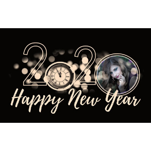 Happy New Year 2020 photo effect
