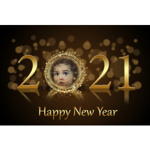 Happy New Year 2021 photo effect