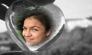 Ice_heart photo effect