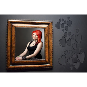 Image Frame Your Lover On The Side Of The Hearts On The Wall photo effect