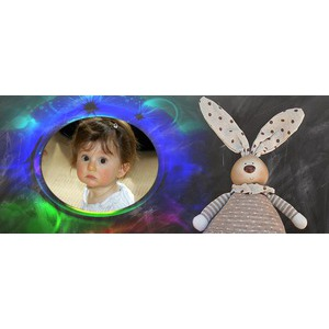 Image Of Baby Rabbit Doll photo effect