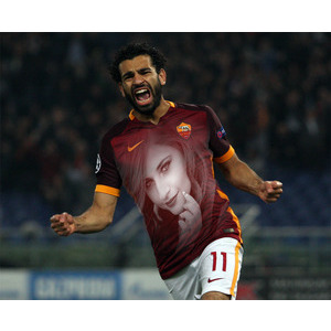 Mohamed Salah Roma photo effect