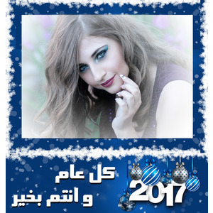 New_year_frame_2017 photo effect