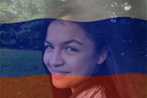 Russia Flag Overlay photo effect