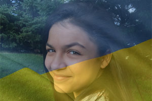 Ukraine Flag Overlay photo effect