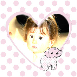 Your Child To The Heart Of A Small Elephant Image photo effect