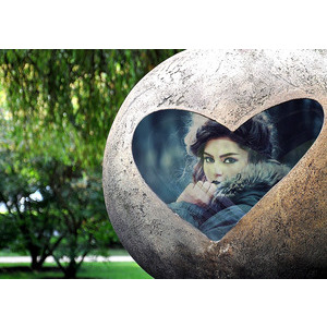 Your Image Is On The Heart Of The Stone photo effect
