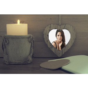 Your Photo Is In The Heart Next To A Candle photo effect