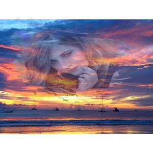 Your Photo On A Colorful Sky photo effect
