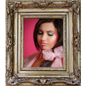 Your Photo On Glossy Wood Frame photo effect