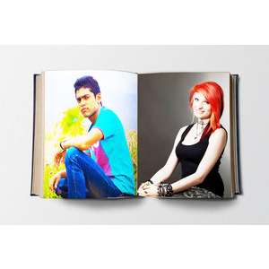 Your Picture And Your Lover On A White Paper photo effect