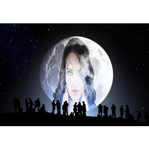 Your Picture And Your Lover On The Moon Amid 000 People photo effect