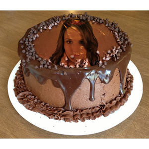 Your Picture On A Chocolate Cake 99 photo effect