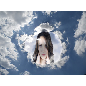 Your Picture On Clouds photo effect