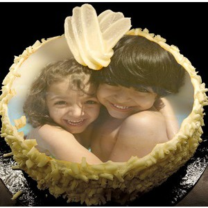 Your Picture On Lemon Cake photo effect