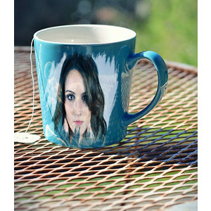 Your Picture On The Cup Blue photo effect