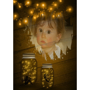 Your Picture On The Jar Fairy photo effect