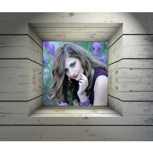 Your Picture On The Wall In The Wood photo effect