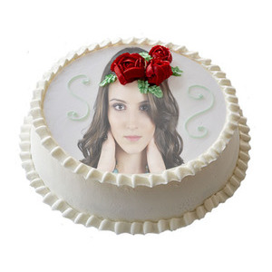 Your Picture On Vanilla Cake photo effect