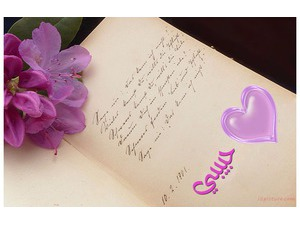 Your lover's name on the book and a rose