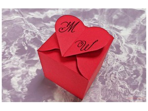 Your lover's name on the gift box