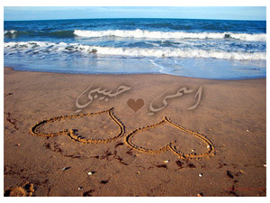 Your lover's name on the sands of the beach 000