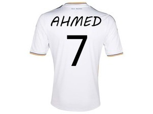 Write Name on Real Madrid Jersey Shirt